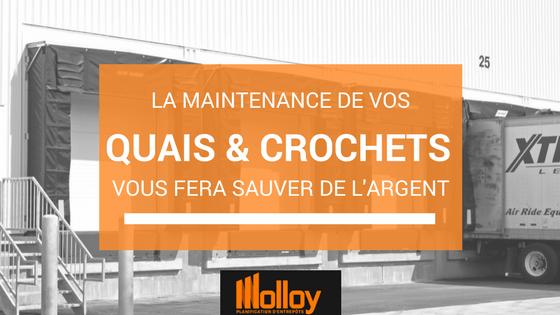 La maintenance de vos quais niveleurs et crochets de retenue vous permet une productivité accrue, une efficacité optimale et des opérations sécuritaires.