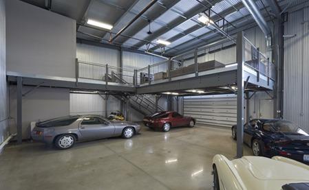 Mezzanine pour garage