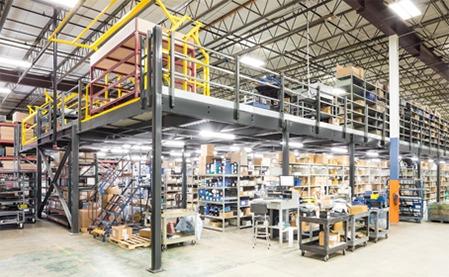 Mezzanine pour entrepôt